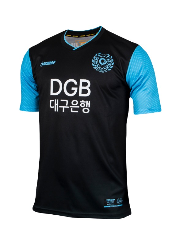 DAEGU FC GK AWAY KIT FOR K-LEAGUE (PREMIUM - 전사형)/ 마킹 후부착
