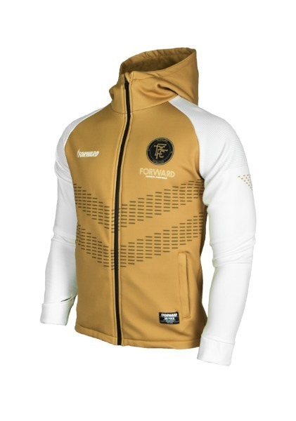 WARM-UP HOODY FULL ZIP TOP (GOLD/WHITE)