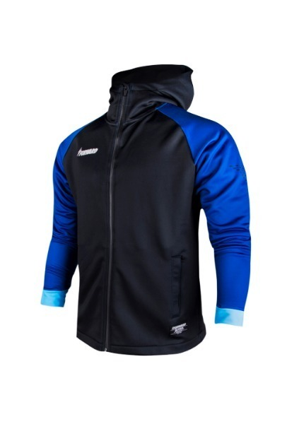 FLEECE ANTHEM HOODY FULL ZIP UP(BLACK/BLUE)