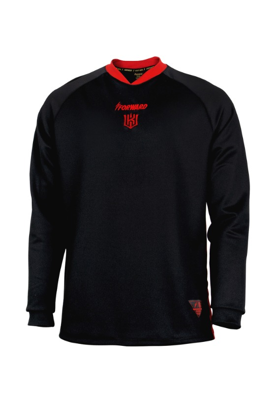 FORWARD kt wiz LIGHTENING TRAINING TOP (BLACK/RED)