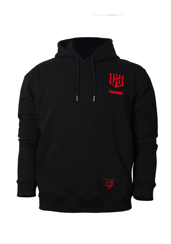 FORWARD kt wiz TEAM LOGO HOODIE (BLACK/RED)