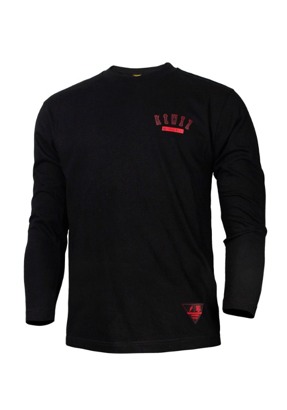 FORWARD kt wiz ARCH LOGO CREWNECK (BLACK/RED)
