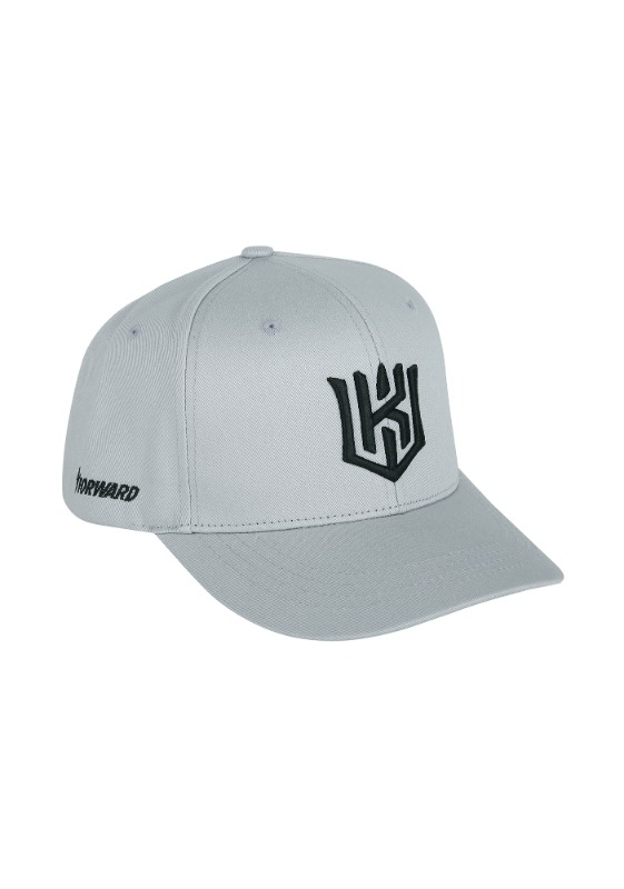 FORWARD kt wiz LOGO HALF CURVE SNAPBACK (GREY/BLACK)