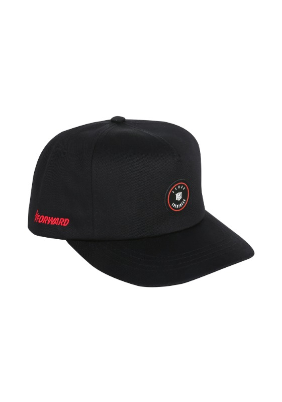FORWARD kt wiz EVERYWEAR 5 PANEL SNAPBACK (BLACK/RED)