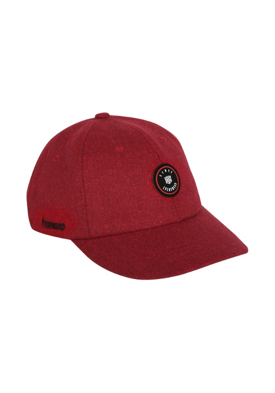 FORWARD kt wiz MELTON 6 PANEL CAP (RED/BLACK)