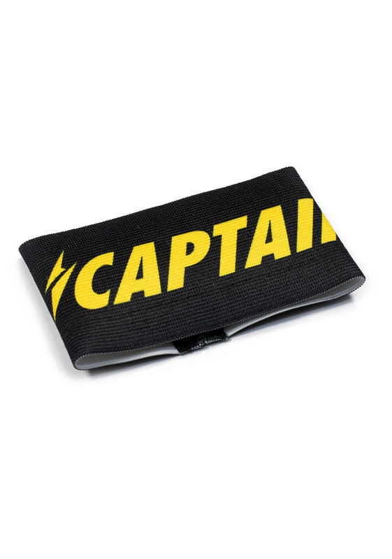 SHINE CAPTAIN ARMBAND (BLACK/YELLOW)