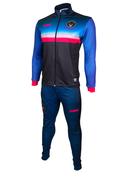 SUNSET TRACK TOP (BLUE/RED)