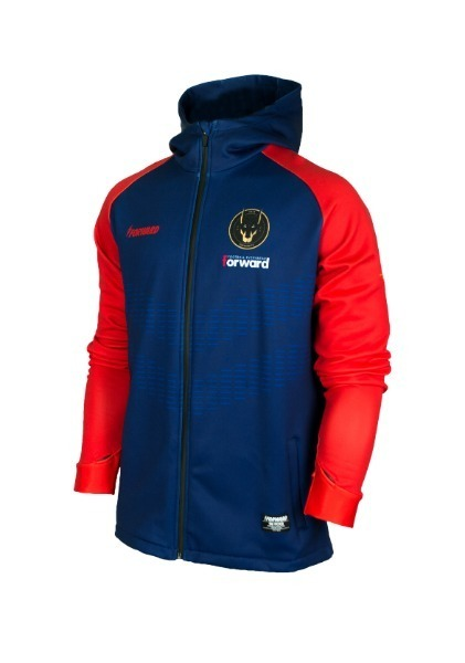 WARM-UP HOODY FULL ZIP TOP (COBALTBLUE/RED)
