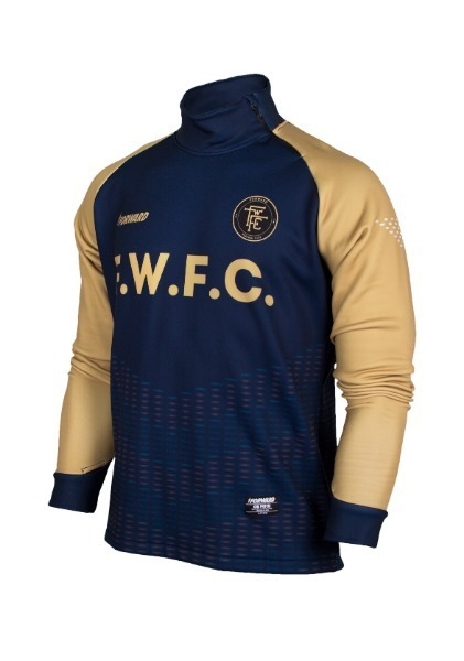WARM-UP SIDE ZIP-UP TOP (NAVY/GOLD)
